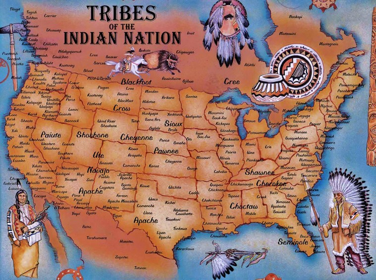 Map Us Indian Tribes Images Trailer Screenshot Analysis Day - Indian nation map us
